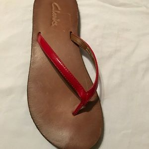 CLARKS Leather Sandal flip flops